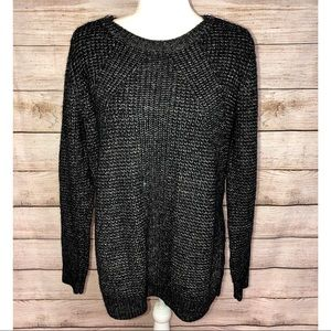 Michael Kors Gray Sweater with Shoulder Zippers